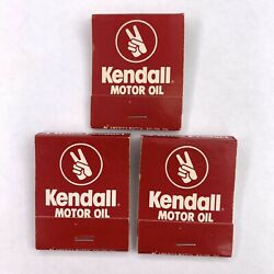 3 Vintage Kendall Motor Oil Robinson Motorcycle Advertising Matches Matchbook