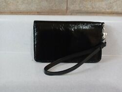 Hobo International Black Patent Leather Wristlet Wallet $25.00