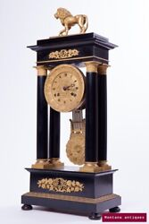 Antique 19th Original French Clock Ed Lecerf A Gand Neoclassical Style 61 Cm