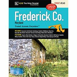 Frederick County, Maryland Street Atlas By Kappa Map Group Mint Condition