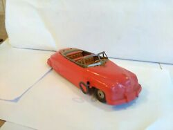 Vintage Rare Plastic And Tin Plate Clockwork Limousine Made By Marx Working...