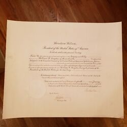 Wwi Japan / 1917 President Woodrow Wilson Signed Diplomatic Appointment Document