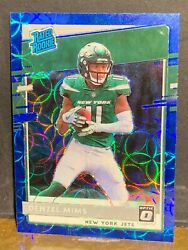 Denzel Mims Blue Scope Prizm Ssp 2020 Donruss Optic Rated Rc Pack Fresh
