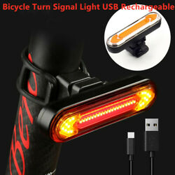 Bicycle Turn Signal Light Usb Indicator Led Rear Tail Laser Remote Control