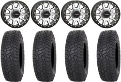 System 3 Sb-3 Machined 15 Wheels 35 X Comp At Tires Can-am Commander Maverick