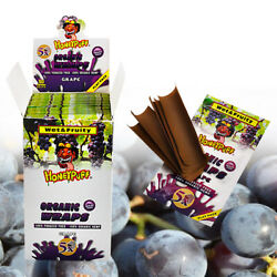 Honeypuff 250 King Size Cigar Rolling Papers Grape Flavor Organic Full Box