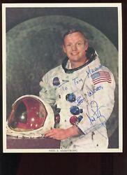 Neil Armstrong Signed 8x10 Space Suit Photo With Zarelli Coa Rare