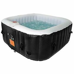Portable 61x61x26and039and039 Bubble Jet Spa 2-3 Person Inflatable Square Hot Tub