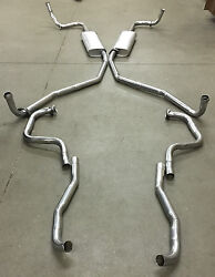 1967-1970 Buick Riviera Dual Exhaust System, 304 Stainless Without Resonators