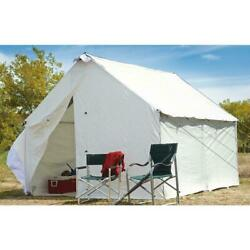 10 X 12 Canvas Wall Tent Complete Bundle With Floor And Frame Included Large