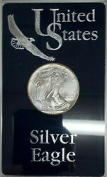 1995 American Silver Eagle Ase Bu In Deluxe Acrylic Case And Sleeve