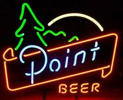 New Point Beer Light Lamp Neon Sign 17x14 Artwork Glass Wall Decor