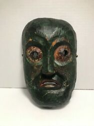 Very Rare Antique Nepalese/nepal Hand Carved Wooden Mask 10 X 6