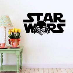 Star War Character Words Removable Kids Room Wall Sticker Creative Boys Love