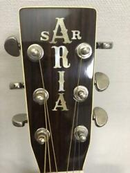 Aria W-50d Acoustic Electric Guitar With Soft Case Safe Shipping From Japan