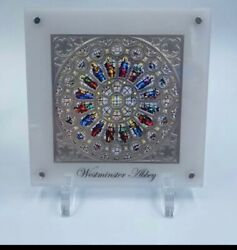 2021 Solomon 150g Rose Window Of Westminster Abbey Glass Silver Proof Coin
