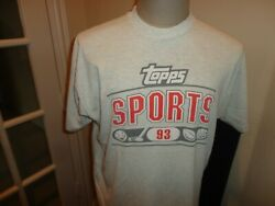Vtg 90's Gray Fruit Loom Topps Trading Sports Cards 50-50 T-shirt Adult Xl Rare