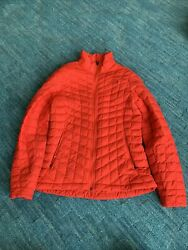 North Face Red Women's Thermoball Red Quilted Jacket $72.00