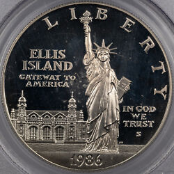1986-s Statue Of Liberty 1 Dollar Pcgs Pr69 Dcam Silver Proof Luster Unc Mr