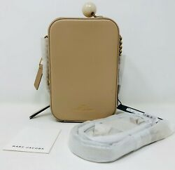Marc Jacobs M0015417 The Vanity Crossbody Bag Beige Women#x27;s Handbag Unused $173.25