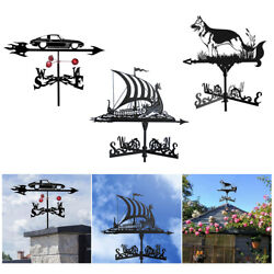 Stainless Steel Weather Vane Figurines Outdoor Garden Stake Roof Ornaments