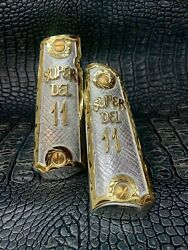 Colt 1911 Grips Full Size Government Gold Plated Super Del 11 Logo