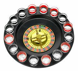 Shot Glass Roulette - Drinking Game Set Comes With 2 Balls And 16 Shot Glasses