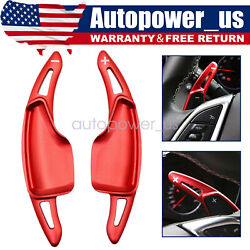 Red Steering Wheel Paddle Shifter Extensions For Chevy 14-19 C7 Corvette Camaro