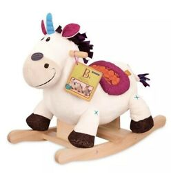 B. Toys Wooden Rocking Unicorn Rodeo Rockers - Dilly-dally - White Rocking Horse