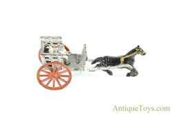 William Shimer And Sons Co. Ca. 1903 Cast Iron Road Cart And Horse Toy