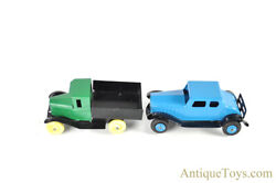 Wyandotte Toys All Metal Products Co. Pressed Steel Dump Truck And Car Set Of 2