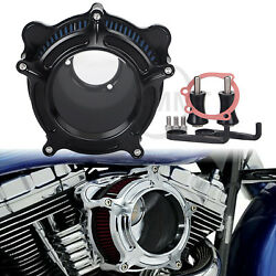 Black Clarity Air Cleaner Intake Filter For Harley Softail Fxd Electra Glide Fl