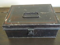Antique 1800and039s Kreamer Tin Spice Box With 6 Spice Tins