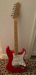 1989 Fender Squier Stratocaster Made In Usa Red