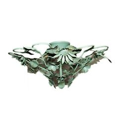 Chandelier Vintage From Ceiling Pattern Floral E14 Effect Copper Oxidised