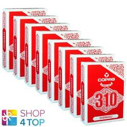 8 Decks Copag 310 Svengali Poker Playing Cards Paper Standard Index Red New