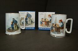 2-long John Silvers-norman Porcelain Rockwell Seafarers Collection Tankers