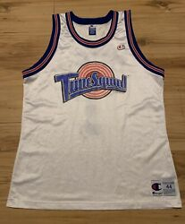 Vintage 1996 Champion Space Jam Toon Squad Bugs Bunny Jersey Mens Large 44