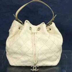 Tote Bag Shoulder On The Road 302130cm White Leather +guarantee Card