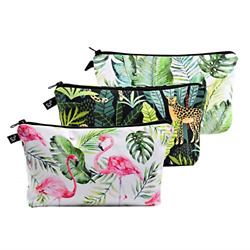 Pack of 3 Cosmetic Bags for Women Functional Makeup Bags Small Travel Bags Case $17.84