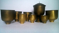 Antique Romanian Military Army Canteen Cups Burner Field Gear Militaria 1920s