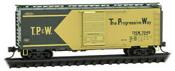 Micro-trains Mtl N-scale 40ft Box Car Toledo, Peoria And Western/tpandw 7049