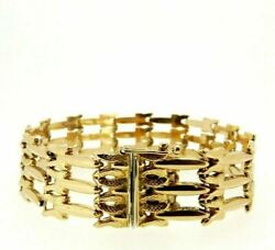 Bracelet Vintage Ans And03950 In Or Jaune Massif 18k Made In Italy