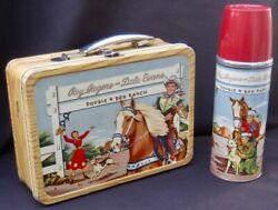 Vintage Roy Rogers Lunchbox And Thermos - Cowboy Tv Movies 1953 C-8.5+ Awesome