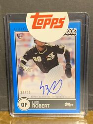 Luis Robert 23/30 Blue Ssp Rc Auto 2020 Brooklyn Collection Pack Fresh