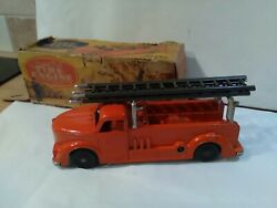 Rare Vintage Mettoy Clockwork Cast Toys Fire Engine Beautiful Condition And...