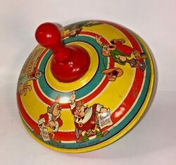 Vintage Tin Litho Toys Gullivers Travels Spinning Tops J Chein 1939 A Condition