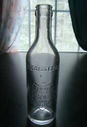 Antique Geo. F. Hewett Co. 1894 Early Soda Bottle- Worcester Mass.