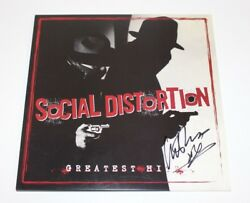 Mike Ness Signed Social Distortion Greatest Hits Vinyl Record Album W/coa Proof