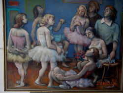 Original 20th Century American Expressionist O/c By Listed Samuel Heller 1953-